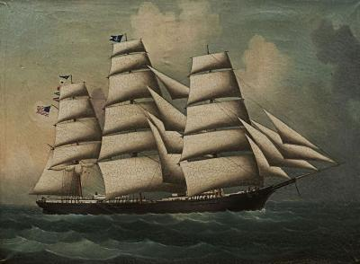 PAINTING OF AMERICAN SHIP