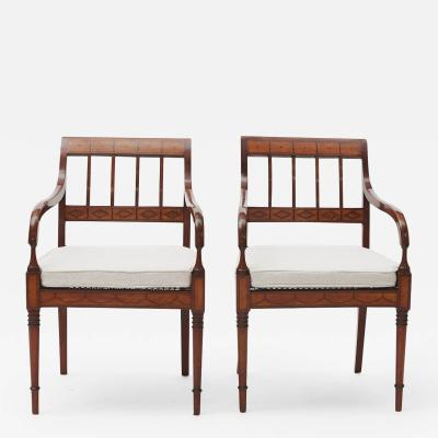 PAIR OF 19TH DANISH EMPIRE ARMCHAIRS