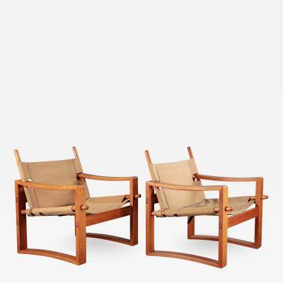 PAIR OF CAMPAIGN ARMCHAIRS