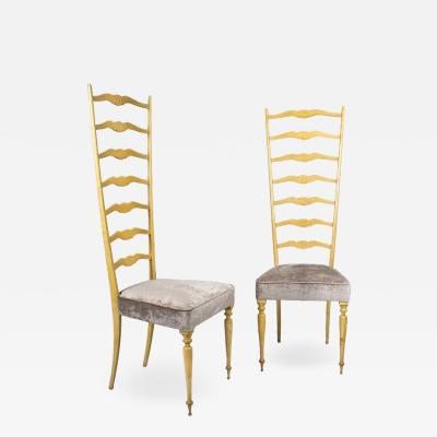 PAIR OF CHIAVARINE CHAIRS ITALY 1940