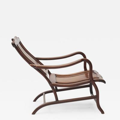 PAIR OF CHINESE ART DECO DECK CHAIRS