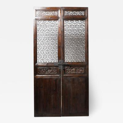 PAIR OF CHINESE COURTYARD DOORS