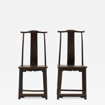 PAIR OF CHINESE SCHOLARS CHAIRS