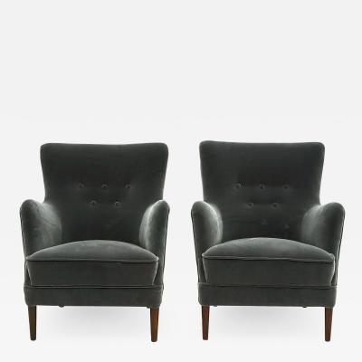 PAIR OF DANISH EASY CHAIRS DESCRIPTION FREIGHT