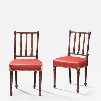 PAIR OF FEDERAL SIDE CHAIRS