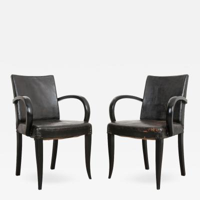 PAIR OF FRENCH 20TH CENTURY ART DECO ARMCHAIRS
