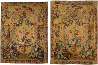 PAIR OF IMPORTANT LATE 17TH CENTURY GOBELINS TAPESTRIES