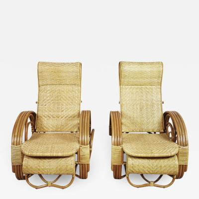 PAIR OF RATTAN ARMCHAIRS INDONESIA 1990