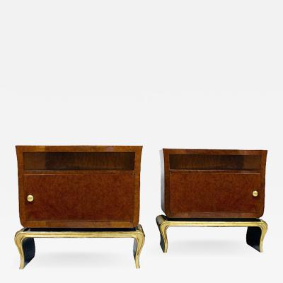 PAIR OF ROUNDED NIGHT STANDS ITALY 1940