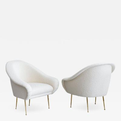 PAIR OF SALON SLIPPER CHAIRS