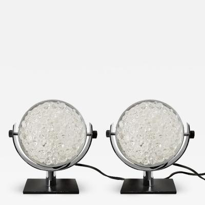 PAIR OF SMALL TABLE LAMPS ITALY 1960