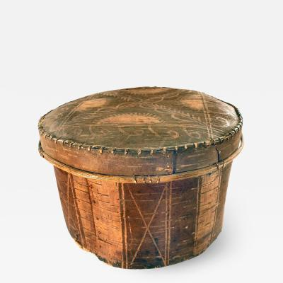 PENOBSCOT BIRCH BARK COVERED CONTAINER
