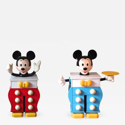 PIERRE COLLEU Mickey mouse fancy pair of chest of drawers by Pierre Colleu for Starform 1970