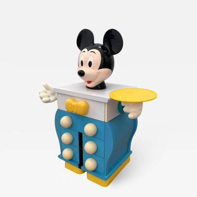 PIERRE COLLEU Rare Pierre Colleu Mickey Mouse Commode or Chest of Drawers France 1980s