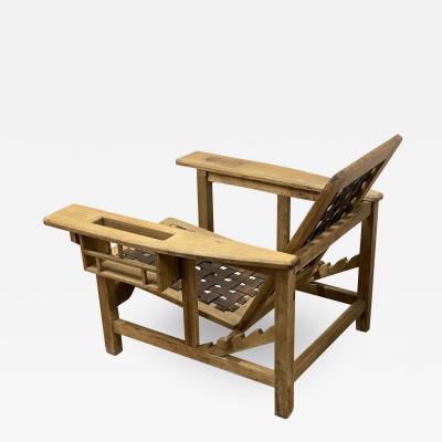 PIERRRE DARIEL Pierre Dariel for Rob Mallet Stevens modernist lounge chair in vintage condition