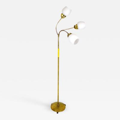 POLISHED BRASS STANDING LAMP FRANCE 1960