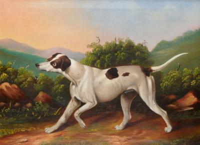 PORTRAIT OF A HOUND CIRCA 1840