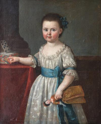 PORTRAIT OF AGLA DAUVET CIRCLE OF MICHEL HUBERT DISCOURSE 1707 1775