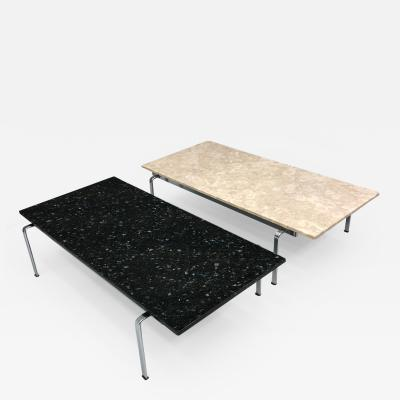 PREBEN FABRICIUS JORGEN KASTHOLM COFFEE TABLES FK 91 MARBLE GRANITE KILL INT