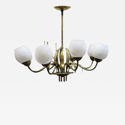 Paavo Tynell Brass Chandelier by Paavo Tynell For Limburg