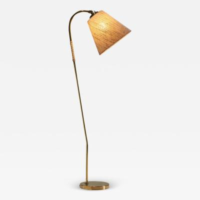 Paavo Tynell Brass Floor Lamp by Paavo Tynell attr for Idman Oy Finland 1950s