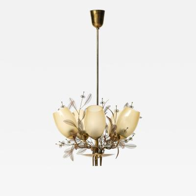 Paavo Tynell Ceiling Lamp Model 9029 5 Produced by Taito Oy