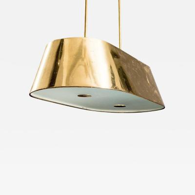 Paavo Tynell Ceiling Light in Brass Opaline Glass 1950s