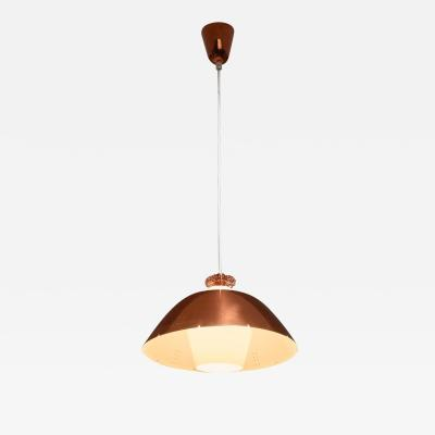 Paavo Tynell Copper Shade Paavo Tynell Chandelier Idman Finland 1950s