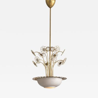 Paavo Tynell Elegant Floral Chandelier by Paavo Tynell 1950s