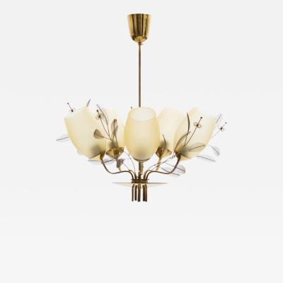 Paavo Tynell Five Arm Chandelier by Paavo Tynell for Taito Oy Model 9029 5 circa 1950
