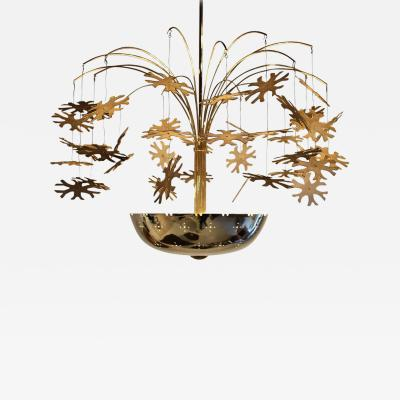 Paavo Tynell Magnificent Paavo Tynell Snowflake Chandelier