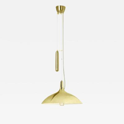 Paavo Tynell Paavo Tynell A1965 Counterweight Pendant Lamp in Brass