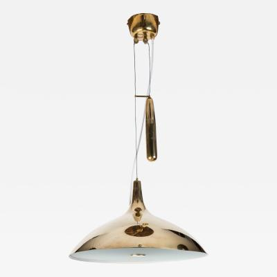 Paavo Tynell Paavo Tynell Brass Counterweight Chandelier for Taito Oy