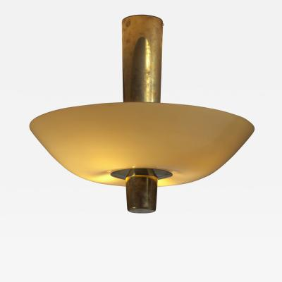 Paavo Tynell Paavo Tynell Chandelier or Flush Mount Brass with Yellow Glass Idman 1950s