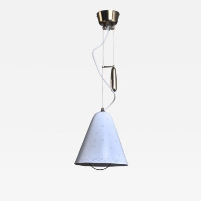 Paavo Tynell Paavo Tynell Height Adjustable Counterweight Chandelier In White Finland 1950s