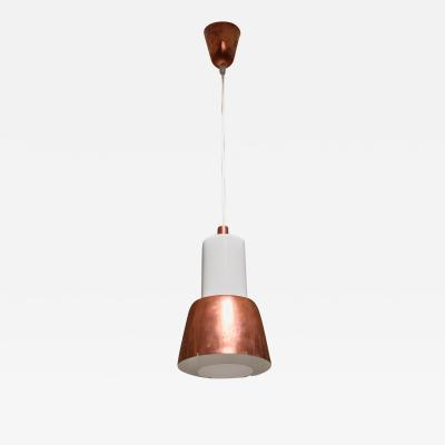 Paavo Tynell Paavo Tynell Idman Pendant with Copper Shade Finland 1950s