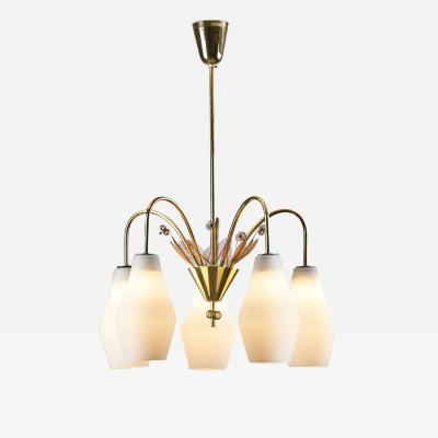 Paavo Tynell Paavo Tynell K1 9 5 Ceiling Lamp for Idman Oy Finland 1950s
