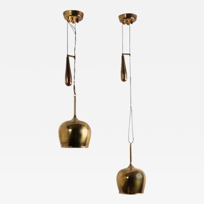 Paavo Tynell Paavo Tynell Pair of Adjustable Counter Balance Pendant Lights Model A1957