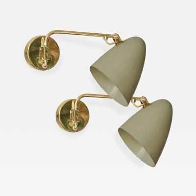 Paavo Tynell Paavo Tynell Pair of Adjustable Sconces Idman Oy 1950s