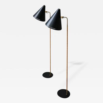 Paavo Tynell Paavo Tynell Pair of Floor Lamps Model K10 10