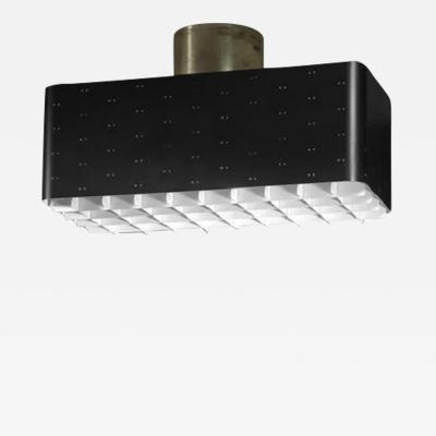 Paavo Tynell Paavo Tynell Rectangular 9068 Ceiling Lamp in Black and White Finland 1950s