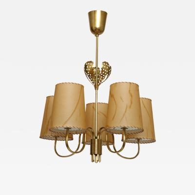 Paavo Tynell Paavo Tynell five arm chandelier