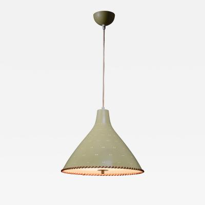 Paavo Tynell Paavo Tynell light yellow pendant with leather string