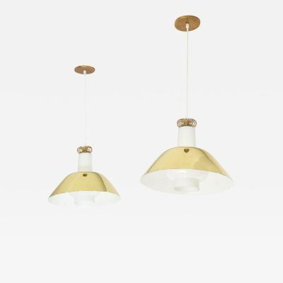 Paavo Tynell Pair of K 20 Pendants by Paavo Tynell for Idman