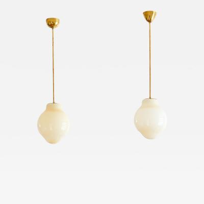 Paavo Tynell Pair of Paavo Tynell Pendants Model 1092 Taito Oy Finland 1950s