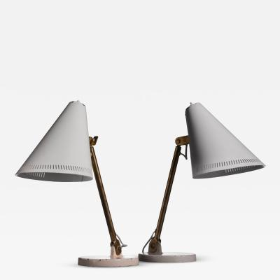 Paavo Tynell Pair of Paavo Tynell table lamps for Taito