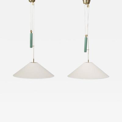 Paavo Tynell Pair of Pendants by Paavo Tynell for Taito