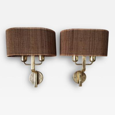 Paavo Tynell Pair of Rare and Early Wall Sconces by Paavo Tynell