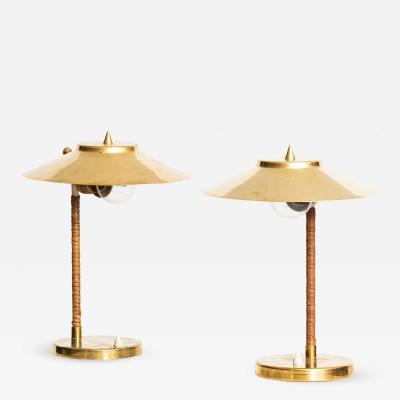 Paavo Tynell Table Lamps Produced by Idman in Finland