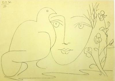 Pablo Picasso After Pablo Picasso Face of Peace Lithograph 1951